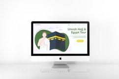 Hajj and Umrah Landing Page Flat Design Vector Product Image 2