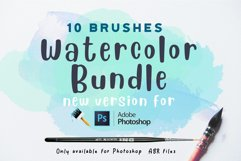 Watercolor bundle Photoshop brushes Product Image 1