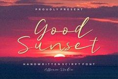 Web Font - Good Sunset - Handwritten Script Font Product Image 1