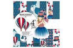 Independence Day Paper Pack Fashion Illustration Planner Product Image 1