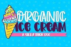 Organic Ice Cream - A Thick Cut Friendly Duo! Product Image 1