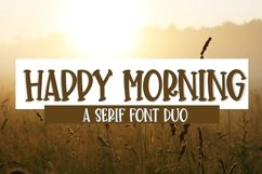 Web Font Happy Morning - A Cute Hand-Lettered Font Duo Product Image 1