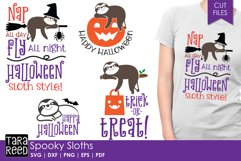 Spooky Sloths - Halloween SVG and Cut Files for Crafters Product Image 1