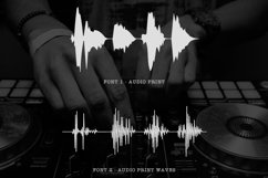AudioPrint WaveForm Font Product Image 2