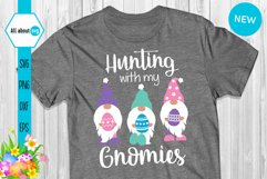 Hunting With My Gnomies, Funny Easter Gnomies Svg Product Image 3