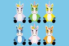 Cute Unicorn Clipart Bundle, Magical Horses, PNG, JPEG, EPS Product Image 2