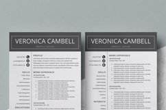 Resume | CV Template Cover Letter - Veronica Cambell Product Image 5