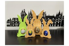 Easter Bunny Chocolate Egg Template | Chocolate Egg svg Product Image 2