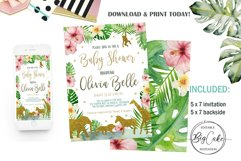Jungle Gold Baby Shower Invitation Product Image 1