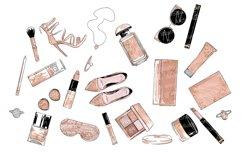 Cosmetics Set Clipart, Make up eps, fashion leopard makeup Product Image 3