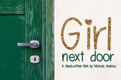 Girl Next Door, A handwritten font Product Image 1