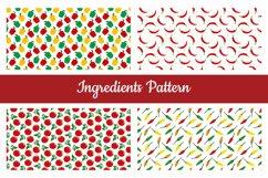 Ingredients Seamless Pattern Product Image 1