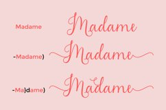Madame Naila- Lovely Modern Calligraphy Product Image 5