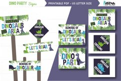 Printable Dinosaur Signs, Dinosaur party, Welcome Signs Product Image 1