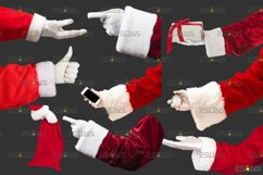 Christmas overlays Santa Claus Hand clipart png Photoshop Product Image 5