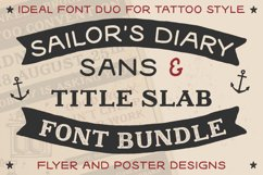 Sailors Diary Sans & Title Slab Tattoo Style Font Product Image 1