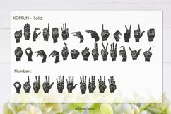 Koprun - American Sign Language Font Product Image 5