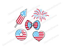 4th of July CUTE DOLLS Independence Day USA American PNG Product Image 2