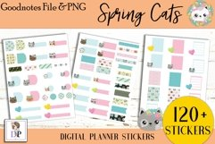 Spring Cats Digital Printable Labels Stickers Goodnotes Product Image 2
