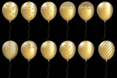 Gold Balloons Clipart Product Image 4