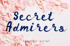 Secret admirer summer script Product Image 1