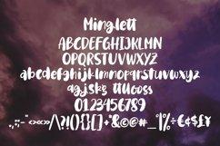 Web Font Minglett - Rough Brushable Font Product Image 4