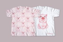 Pig and pattern. Watercolor Product Image 3