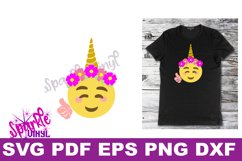Unicorn emoji svg, Emoji Unicorn Svg files for cricut or Silhouette, Cut file, dxf pdf eps, printable, Unicorn svg, Emoji Svg, cutting files Product Image 1