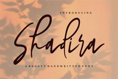 Web Font Shadira - A Beauty Handwritten Font Product Image 1