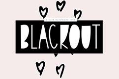 Blackout - A Bold Handmade Font Product Image 1