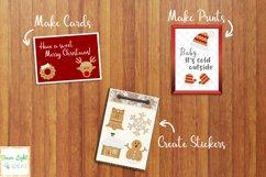 Christmas Gingerbead Cookies Clipart, Christmas Clip Art, Christmas Graphics Product Image 3