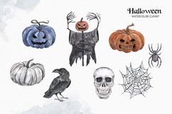 Vintage Halloween clipart Watercolor illustrations set Product Image 3