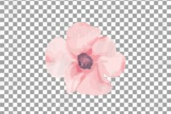 Blush watercolor floral wedding clip art, pink flowers leafs Product Image 9