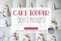 Mockup Cake Toppers   16 file Bundle Product Image 1