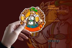 Beer Farmers Happy Wheat Frame SVG Illustrations Product Image 3