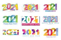 Happy new 2021 year - mega set label Product Image 3
