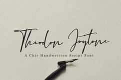 Theodon Joytone- A Handwritten Script Font Product Image 1
