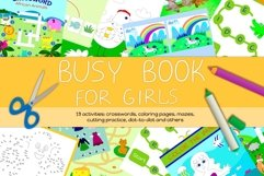 Busy Book for Girls - A4 size, printable JPG / EPS / AI Product Image 1