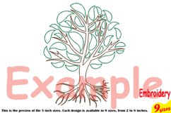 Family Tree Outline Embroidery Design Machine Instant Download Commercial Use digital Outline family love Deep Roots Branches 205b Product Image 3