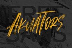 Alosia SVG Brush Font Free Sans Product Image 5