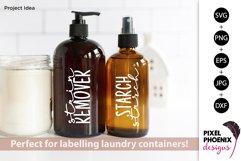 Laundry Labels SVG, Bottle Labels, Jar Labels Product Image 2