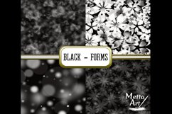 Black Forms - 10 Digital Papers/Backgrounds Product Image 2