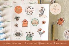 Botanical Printable Stickers | Cricut Design Sticker Sheet Product Image 4