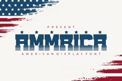 Ammrica - American Display Font Product Image 1