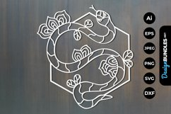 Floral Snake Papercut Product Image 1