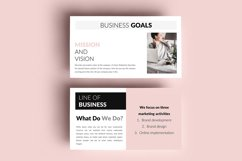 PPT Template   Business Plan - Pink and Marble Product Image 3