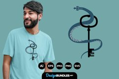 Snake and Key for T-Shirt Design Product Image 1