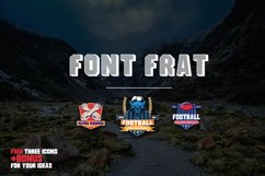 Frat Font - Modern Uppercase Sans Serif Product Image 6