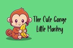 Web Font Little Monkey - Cute Font Product Image 3