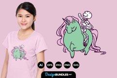 Skull Riding Unicorn for T-Shirt Design Product Image 1
